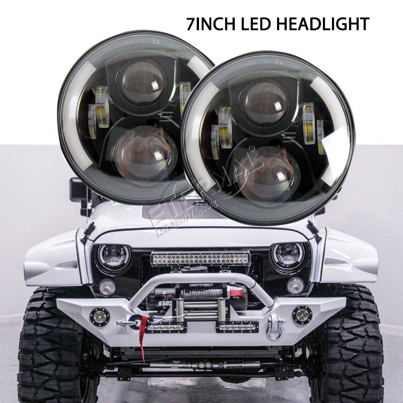 пара 7-дюймовый круглый светодиодные фары 50W вождения двойной запечатанные фары луча Сид par56 для бездорожья Нива Рэнглер ТИДЖЕЙ и 4WD 4x4 грузовики внедорожник