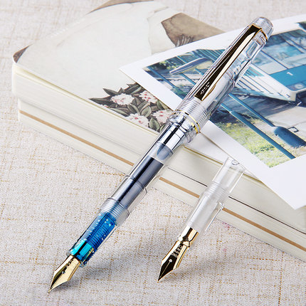 Eternal transparent fountain pen dual writing practice gift men and women Be applicable free shipping oris 658