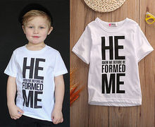 Boys Kids Summer Tees Short Sleeve Cotton Toddlers Clothing Tops T-shirts