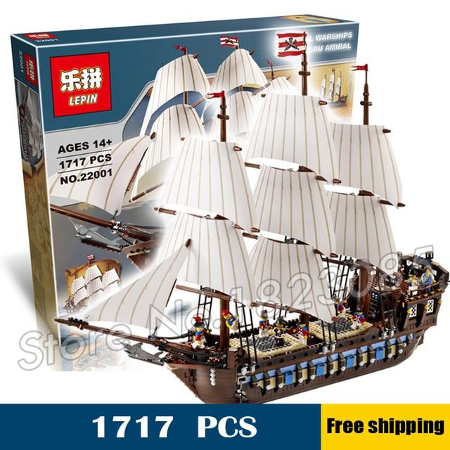 1717 unids nuevo 22001 piratas del caribe imperial insignia diy edificio modelo bloques grandes juguetes compatibles con lego