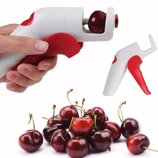 TENSKE Cherry Olive Pits Pitter Pietra Remover Hand Held Corer Kitchen Tools * 2