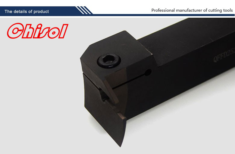 hot selling cnc cutting tools Surface Grooving tool holder QFFD2525R17-100L for Zccct carbide inserts ZTFD0303-MG 2mm wide blade cutter rod 12mm outer diameter cutting arbor external grooving lathe tool holder width grooving parting cutting