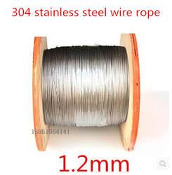 Высокое Качество 50 м 1.2 мм 1*7 мм из нержавеющей стальной трос