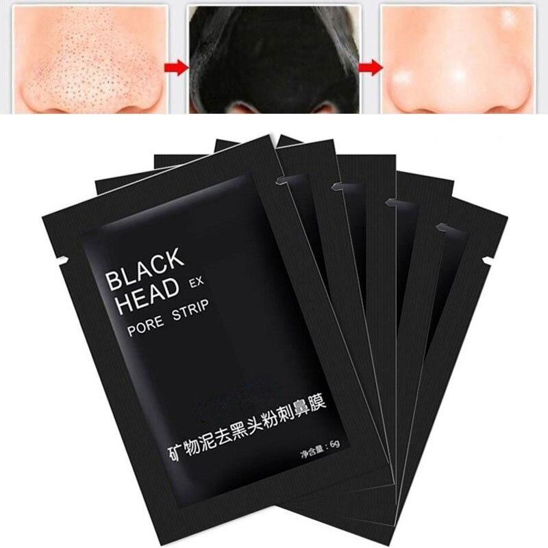 1 Stücke Gesichts Schwarz Maske Gesicht Pflege Nase Akne Mitesser Entferner Mineralien Poren Reiniger Maske Schwarz Kopf Streifen Maquiagem Massage