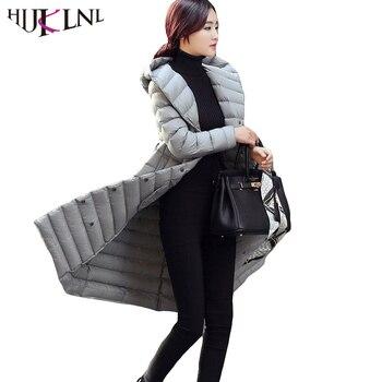 HIJKLNL 2019 Winter Long Down Jacket Women 90% Duck Down Coats Women Parkas Plus Size Hooded Overcoat Casacos Femininos HB196