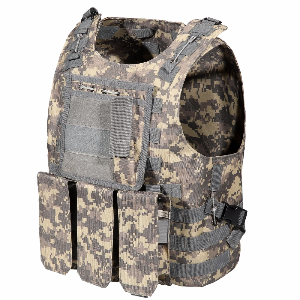 Professional Tactical Vest Army Military Clothes Outdoor Activities Molle Combat Assault Plate Carrier CS Game Vest