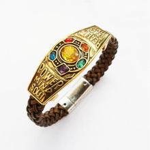 The Soul Stone Thanos Avengers Infinity War Bracelet Bangels Pure hand knitting Cosplay Fashion lover gift for women men Jewelry
