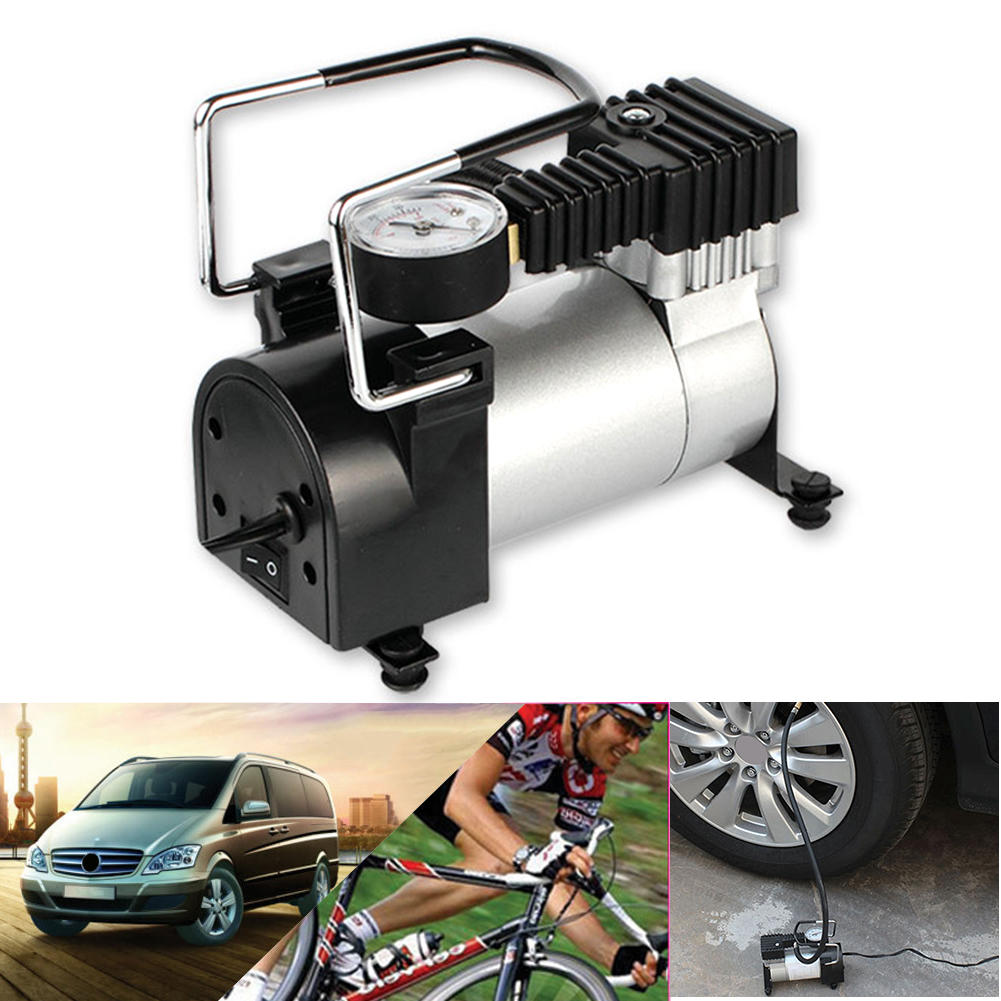 12V 150psi Heavy Duty Air Compressor Deluxe Portable Metal Car Tyre Inflater Cigarette Lighter Inflatable Pump for Auto Tire portable dc 12v auto tire inflator 150psi car air pump auto compressor heavy duty tyre 30amp set