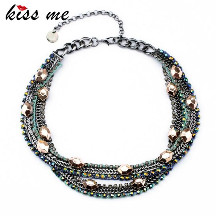 Nouveaux Styles BAISER ME Déclaration De Mode bijoux pour femmes Multicouche collier