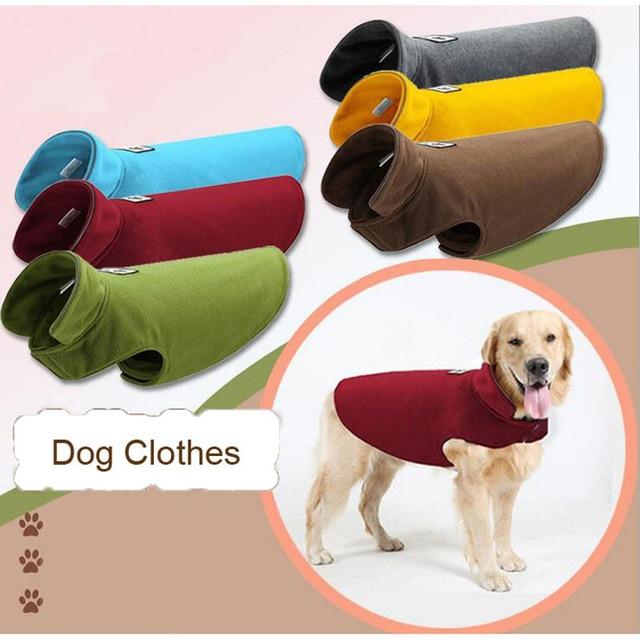 New Arrival Polar Fleece Dog Clothes Dog Vests Keep warm Pet Cloak Parkas Dogs Clothes Autumn Winter Supplies
