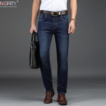 NIGRITY 2019 autumn winter New Men's Straight casual jeans Fashion thick denim trousers dark blue male pant big size 29-42(China)