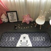 Latest 50 180CM Europe Popular Logo Hungry Bear Carpet Antiskid Bedroom Area Rugs Kitchen Toilet Sitting