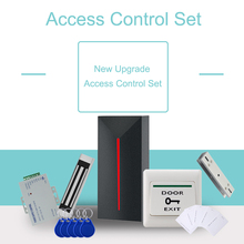 Eseye RFID Door Access Control System Kits Set 125KHz EM Card Reader with 180KG Magnetic Lock Power Supply For Home Office free ship by dhl elevator access control set 40 lift floors controller power case free rfid reader 10pcs em card sn dt40 set