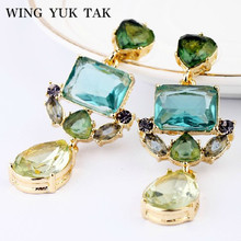 wing yuk tak Classic Fashion Exquisite Water Drop Crystal Earrings For Women Wedding Jewelry Factory Wholesale Free Shipping