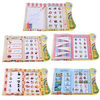 Multi-funcional Tablets PC libro máquina de aprendizaje de la educación temprana del bebé alfabeto carta fonética temprano del lenguaje sonido Juguetes