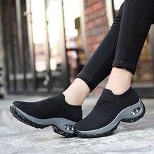冬 sapato feminino 靴女性スニーカー通気性メッシュエアクッション女性の靴女性のプラットフォームスニーカー女性