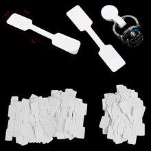 50 шт/100 шт белые ценники с висячим шнурком для ювелирных изделий/канцелярских принадлежностей/обуви/одежды