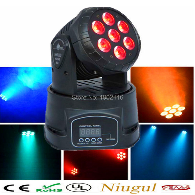 Niugul Super DJ disco lighting 7X12W LED mini wash moving head light led beam dmx stage lighting KTV CLUB led lamp chandelier 10w mini led beam moving head light led spot beam dj disco lighting christmas party light rgbw dmx stage light effect chandelier