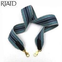 New Women Handbag Strap Customise Lady Shoulder Bag Strap Patchwork Color Gold Buckle high grade Handle For Women Bag Belt Q0160