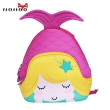 Nohoo Мультфильм Русалка детские школьные сумки милые водонепроницаемые школьные рюкзак для маленьких девочек Книга Сумка детский сад рюкзаки