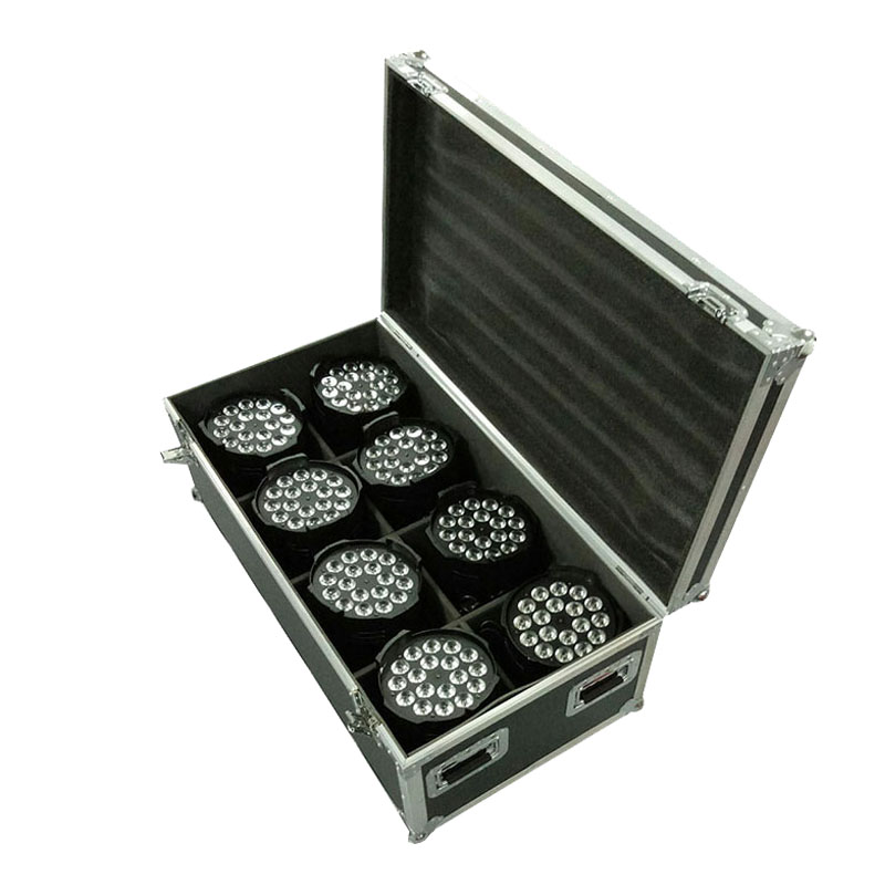 Flight Case with 4/8 pieces LED Par Can 54x3W Lighting 4IN1 LED Light for Disco KTV Party Fast Shipping