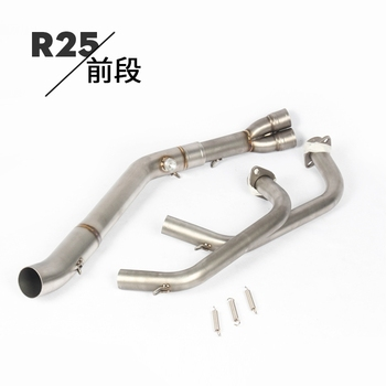 YZF-R3 R25 Slip-on Motorcycle Exhaust front pipe stainless steel headers escape moto down pipe elbows for Yamaha R3 R25 MT03