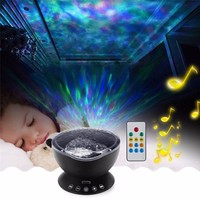 SVELTA Ocean Wave Music Projector Night Light With Built in Mini Music Player USB Lamp LED Night Light Baby Children Room Decor
