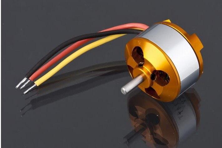 1 pièces moteur électrique cc sans balais A2208 KV1100 KV1400 KV2600 pour avions RC/bateau/véhicule modèle planeur avion Kit 3