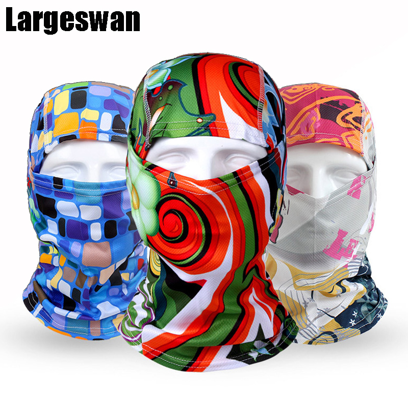 Largeswan Brand Men Balaclava Militar Face Mask Hat Motoqueiro Skull Motorcycle Women Winter Snowboard Cs Cap Unisex airsoft adults cs field game skeleton warrior skull paintball mask