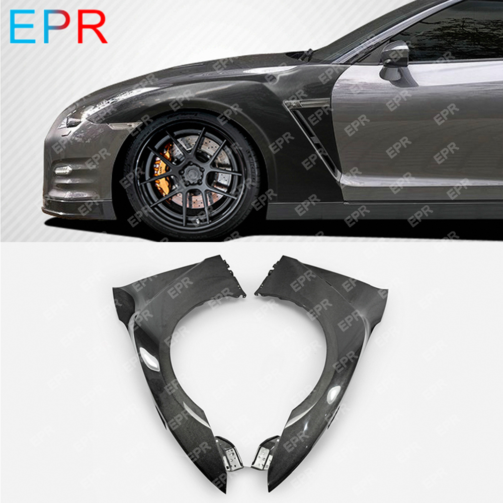 For Nissan GTR R35 2017 MY17 OEM Carbon Fiber Front Fender (Air vents not included) Body Kit Tuning Part For R35 GTR Fender