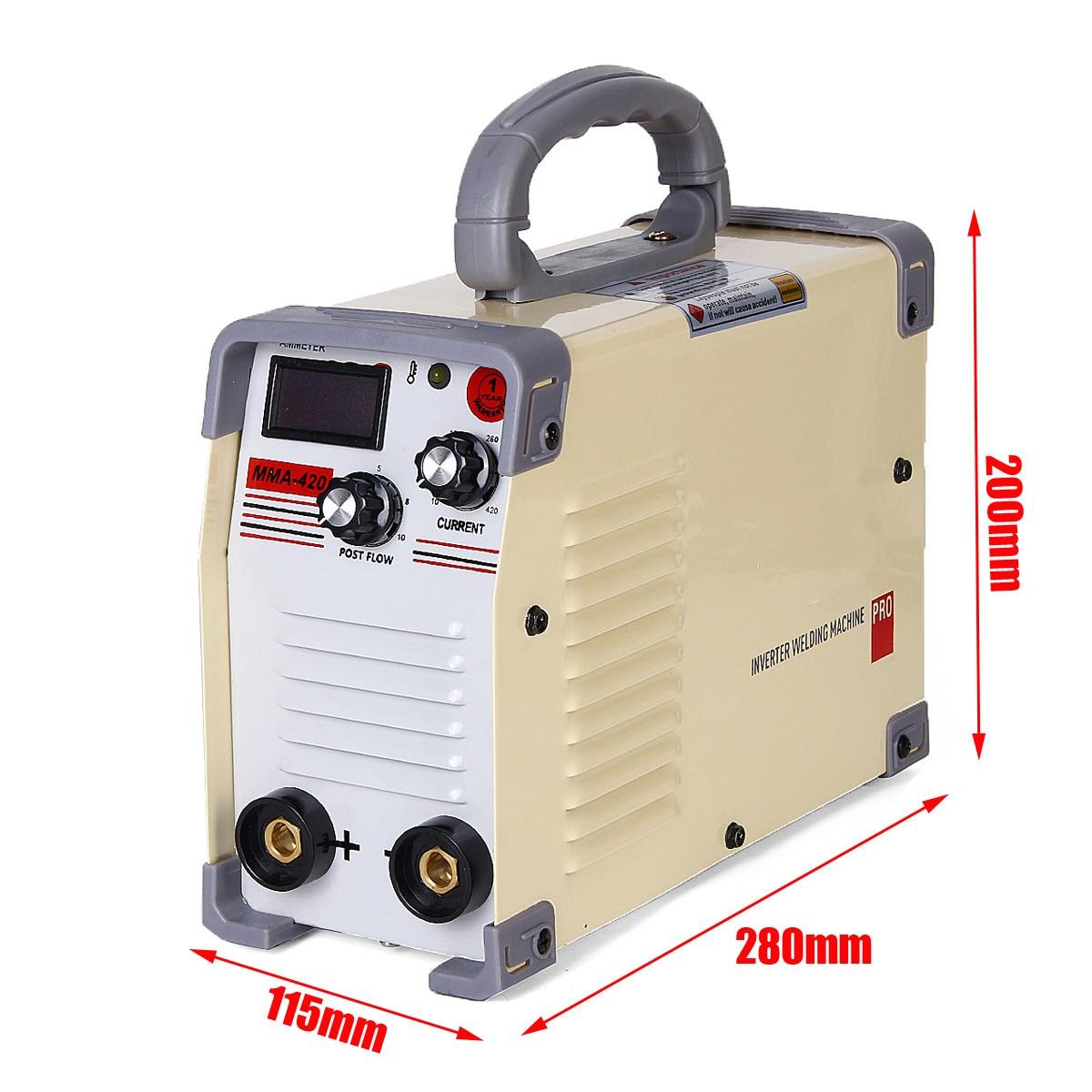 220V Mini Tig Inverter 10-420A Handheld Mini MMA DC Inverter-schweißgerät Mit Klemme Für Schweiß Arbeits Schweißer Inverter werkzeug