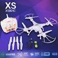 FK Headless Modo XS801C 2.4G 6 Eixos RC quadcopter zangão RC com câmera de 2MP HD GYRO RTF VS X5SC X5SW X400 frete grátis