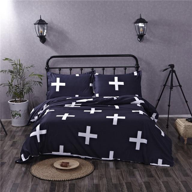 wholesale 3pcs/2PC  AB Side New Fashion Bedding Set 1+Duvet Cover +2+Pillowcase Home Textile Soft  Bed Linen Flat Be