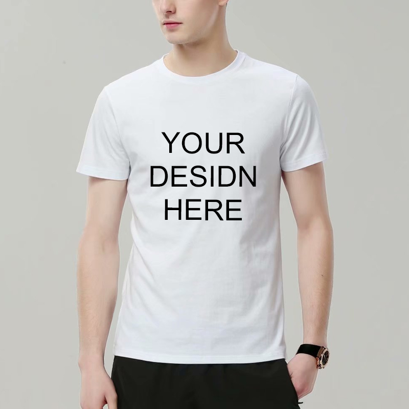 custom men short sleeve <font><b>white</b></font> 200g modal wholesale cheap <font><b>t</b></font> <font><b>shirts</b></font> <font><b>blank</b></font> for sublimation printing image