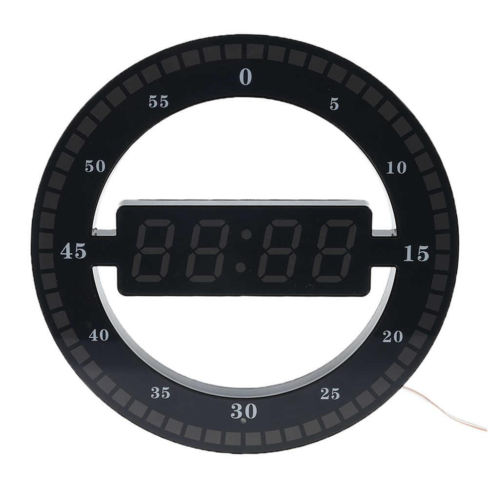 Круговой фоторецептивный светодиодный цифровой настенные часы современный дизайн двойного назначения затемнение цифровые часы для украшения дома ЕС США штекер
