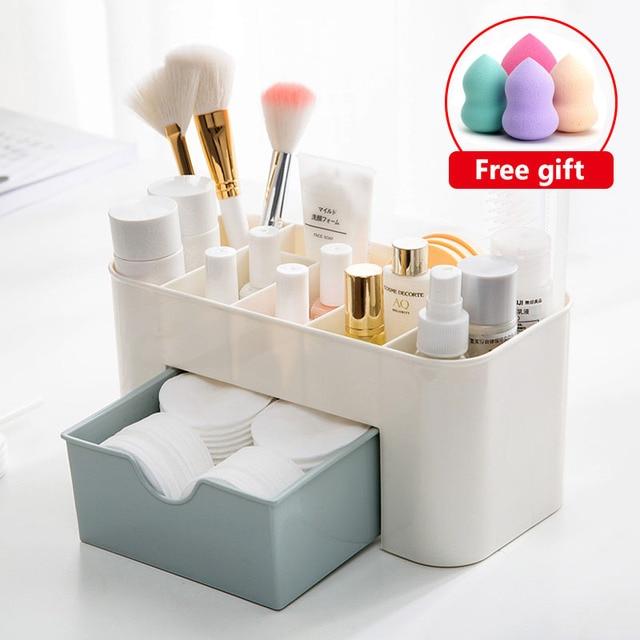 Mini Makeup Organizer Box Jewelry Necklace Nail Polish Earring Plastic Makeup Box Home Desktop Organizer For Cosmetics