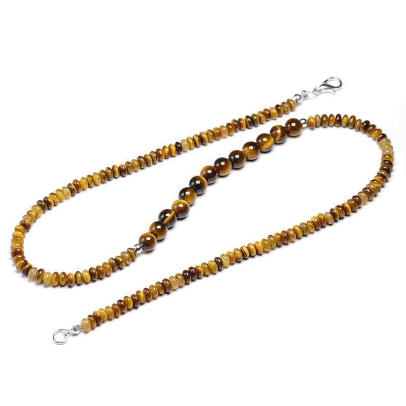 Naturalne tygrysie oko kamień 6mm koraliki krótki naszyjnik kobiet biżuteria Handmade kobiety Choker naszyjniki mężczyźni Party prezent