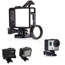 Для Go Pro Аксессуары Стандартный рамка GoPro Стандартный кадра (Камера + ЖК-дисплей BacPac/Батарея) + UV объектив комплект крепление для GoPro Hero3 3 + 4