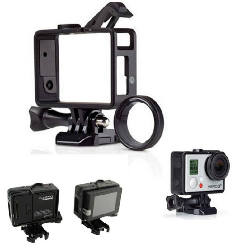 For Go Pro Accessories Standard Frame for Gopro Standard Frame(Camera+LCD BacPac/Battery)+UV Lens Kit Mount For Gopro Hero3 3+ 4