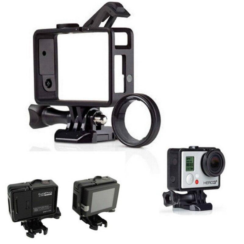 Para Go Pro accesorios marco estándar para Gopro marco estándar (cámara + LCD BacPac/batería) + Kit de lentes UV para Gopro Hero3 3 + 4