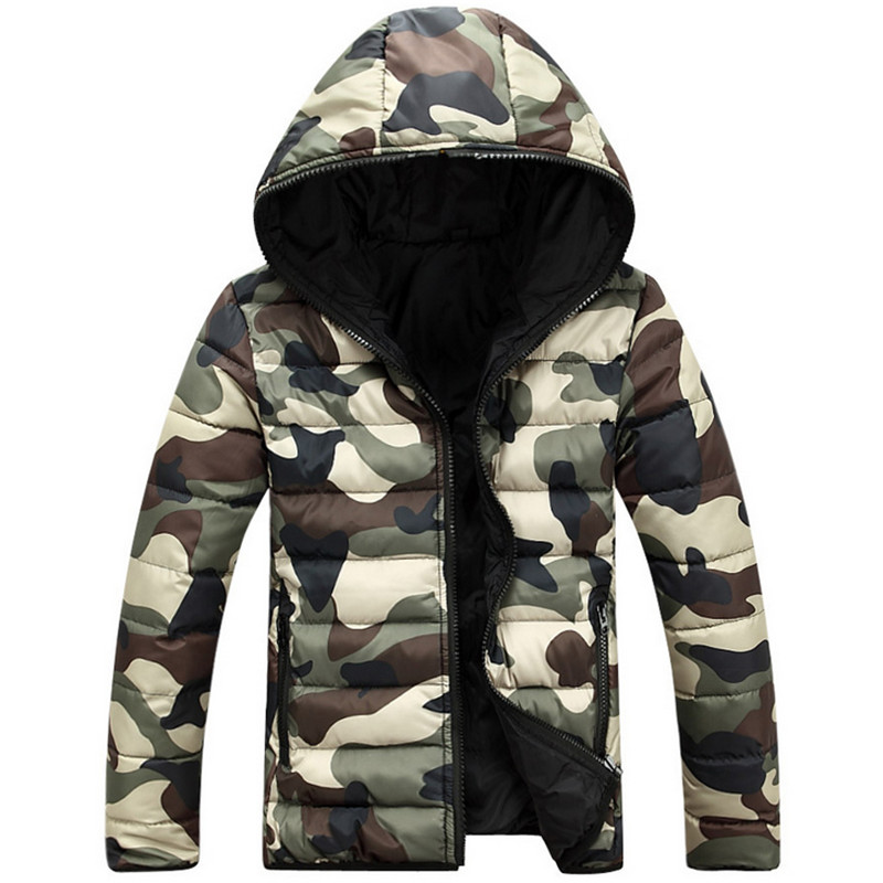 2016 New Winter Camouflage Hooded Coat Jacket Thicker Fashion Lovers Hooded Camouflage Jacket Thick Coat Jacket Large size M-5XL