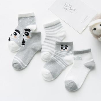 0-3Y 5 Pairs/lot Infant Baby Socks Cute Summer Breathable Mesh Sock Cotton Newborn Boys Girls Short Socks - K, 24M