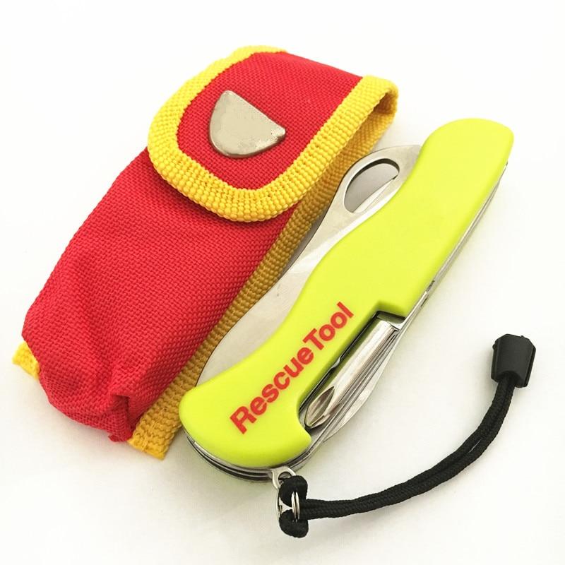 111mm amarelo multi-funcional ferramenta swiss faca de acampamento ao ar livre sobrevivência resgate faca dobrável faca do exército