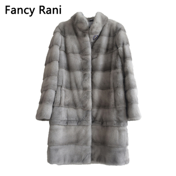 New Real Natural Mink Fur Coat Women Winter Long Mink Fur Coat Fur Jacket Detachable Sleeve Adjustable Clothes Length Customized kids real mink fur coat baby winter warm colourful mink fur coat child mink fur clothes kids warm jacket