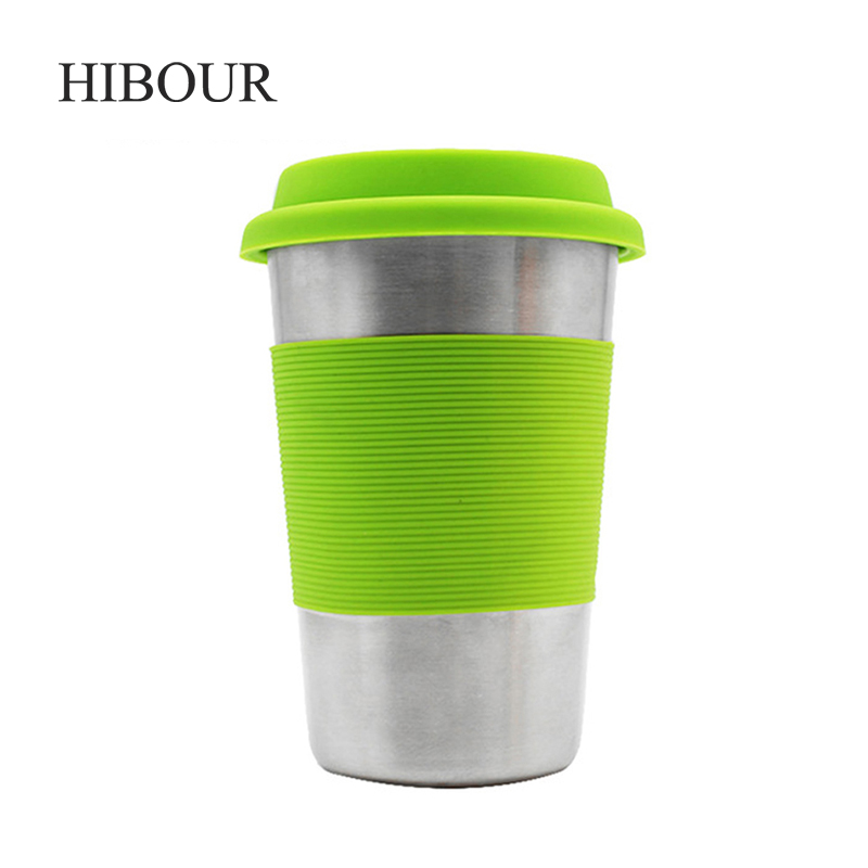 400ml Stainless Steel Vacuum Flask Water Bottle Thermos Coffee Travel Mug Cup Fitness & Jogging