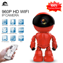 hot deal buy redgontic 960p 1.3mp hd wireless wi-fi ip camera robot p2p night vision two way audio network baby monitor cam360