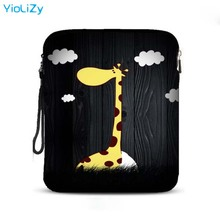giraffe print 9.7 10.1 inch tablet Protective bag laptop bag notebook sleeve Case Cover For Samsung Lenovo ACER DELL IP-24501 pu leather case cover for lenovo ideapad 510s 14 inch laptop bag notebook protective sleeve pen as gift
