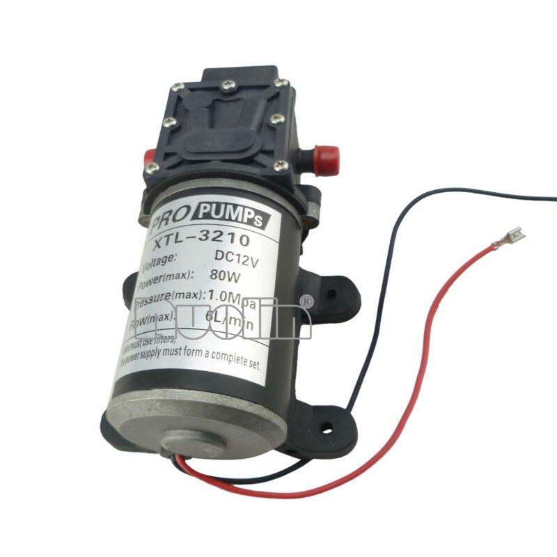 Return valve type 80W 6L/min Diaphragm dc mini motor water pump 12v