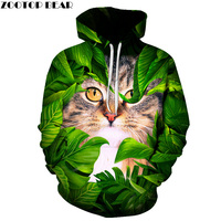 Funny Cat Printed 3D Men Hoodies Women Sweatshirts Hot Sale Autumn Winter Hooded Pullover Casual Tracksuit