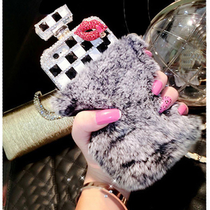 Image 5 - Fur Perfume Bottle Phone Case For iPhone 11 Pro 6 6s 7 8 Plus XS Max XR Samsung Galaxy S10 S20 Ultra S8 S9 Note 10